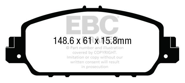 EBC Bremsbeläge Blackstuff Vorne für Ford Ranger DPX2140